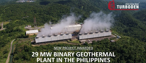 29 MWe geothermal ORC system to EDC, Philippines