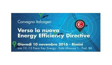 "Italcogen Annual Convention ""Verso la nuova Energy Efficiency Directive"""